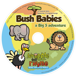 BUSH BABIES musical story CD for babies, toddlers and pre-schoolers