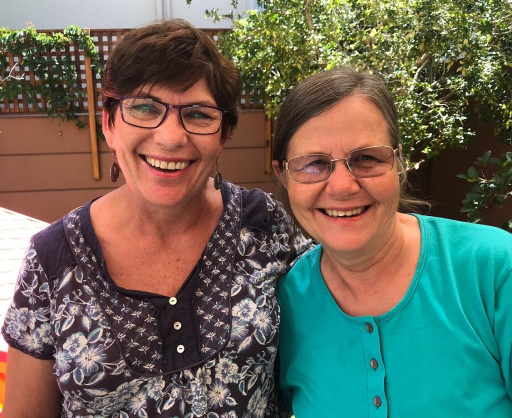 Jenny and Di - lifelong friends reuniting at music classes at Wriggle and Rhyme in Claremont!
