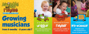 Growing musicians - baby, toddler and pre-school music classes