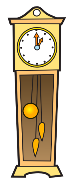 A ticking clock to stimulate music and movement in the Wriggle and Rhyme baby and toddler music classes.