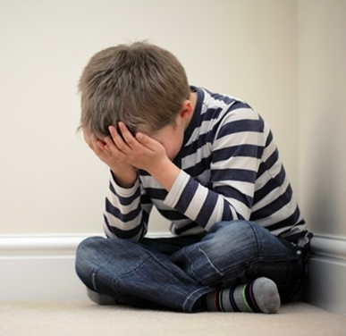 boy feeling sad